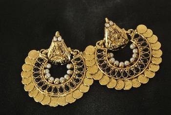 Black colour Ram Leela Earrings