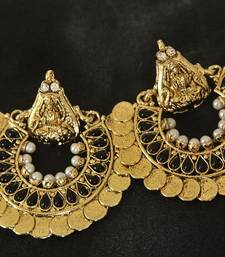 Buy Black colour Ram Leela Earrings hoop online