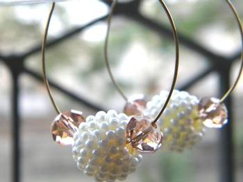 pearl ball ear ring