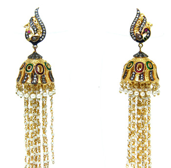 Traditional Gold Jhumkas
