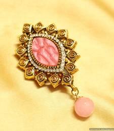 Buy Beautiful Pink parabolic polki Brooch brooch online