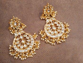 Sabina Kundan Chandbali Earrings