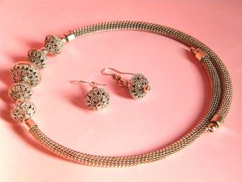 silver colour ethnic set