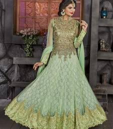 Buy Light green embroidered georgette salwar wedding-season-sale online