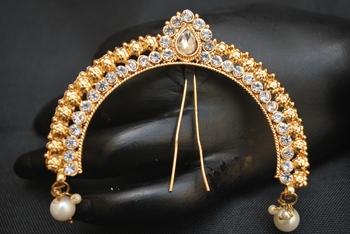 White stone studded Peshwa bajirao serial inspired juda pin