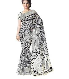 Buy  Kalamkari Saree in Cotton-Black & White kalamkari-saree online