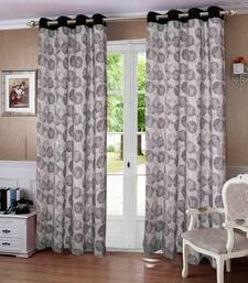 Buy Geometric Printed Cotton Curtains with 8 Eyelets & Plain Tiebacks for Door (Single Pc) other-home-accessory online