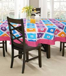 Buy 4 Seater Square  Printed Round Table Cloth table-cloth online