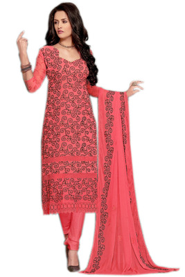 773b3da452 New Traditional Exclusive Red Designer Karachi Work Dress Material ...