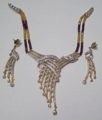 Crystal Zircon Designer Necklace