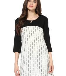 Off white printed Rayon stitched kurti