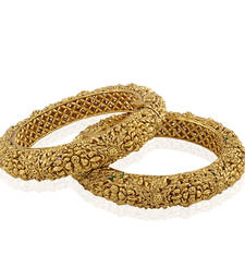 Magnificent Gold plated antique bangle