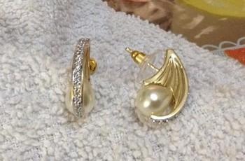 pearl drop hoop jhumka