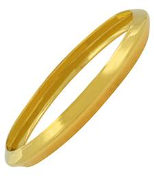 Punjabi Sikh Sardarji 22K Gold Plated Brass Kada Bangle for Men