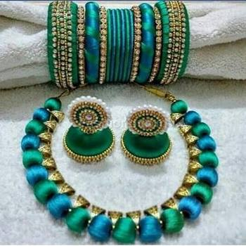 india colour prices multi silk at in thread buy necklace low online dp