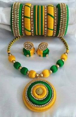 Beautiful Silk thread Necklace
