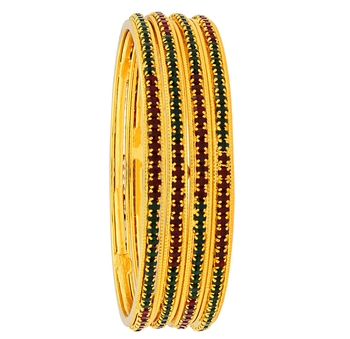 Red gold plated bangles and bracelets
