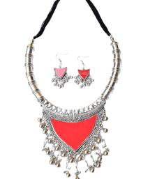 Oxidized Metal Set Colored Red
