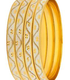 Buy Gold silver plated bangles and bracelets party-jewellery online