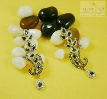 Elegant  Black Onyx CZ Dangler Earrings