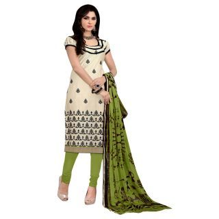 Chiku printed chanderi salwar with dupatta