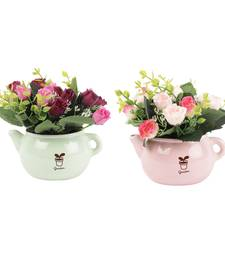 Buy Set of 2 Attractive Artificial Rose Plants with Pot flower online