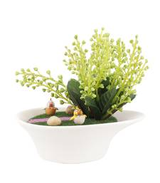 Buy Alluring Artificial Plant with Pot  and  Caartoon Motifs flower online