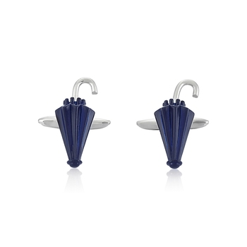 Rhodium Plated Umbrella Cufflinks for Men    Gift for Brother    Gift for Men
