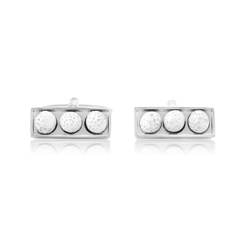 Rhodium Plated Golf Box Cufflinks For Men || Gift for Dad || Gift for Brother || Gift for Friend