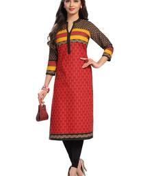 Buy Multicolor printed cotton kurtas-and-kurtis punjabi-kurti online