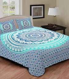 54% OFF Buy Multi Colour Printed Jaipuri Cotton Double Bed Sheet With  Pillow Cover Bed Sheet Online