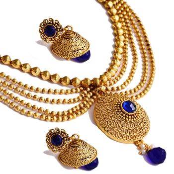 Gold jade necklace-sets