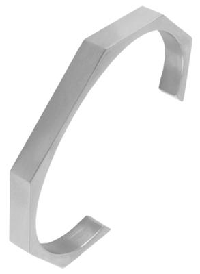 Italian Geometric Cuff Glossy Silver 316L Surgical Stainless Steel Cuff Kada Bangle Bracelet Boys Men