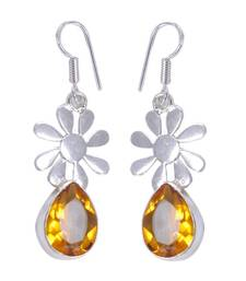 Buy Yellow crystal earrings Earring online