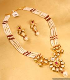 Buy Beautiful Ruby & Kundan Pendant set Pendant online
