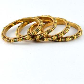Gold Platted Gokhroo Bangles