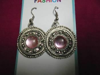 Silver & light pink earrings