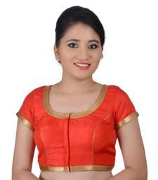 Areum Red Silk Princess Cut Padded Readymade Saree Blouse Choli