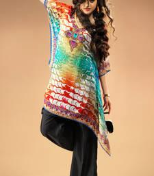 Buy Multi colour Georgeete Digital Printed Kaftan kaftan online