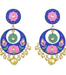 Buy kundan meenakari antique big bali dangers Earring online