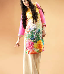 Multi colour Georgette Kurti Comprising Allover Floral Prints