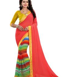 Buy Multicolor printed silk saree with blouse women-ethnic-wear online