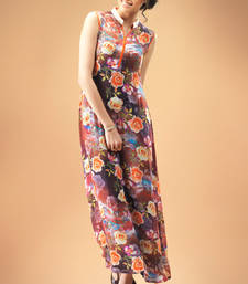 Multi Colour Georgette Kurti Comprising Allover Rose Prints