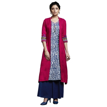 Pink embroidered cotton stitched salwar