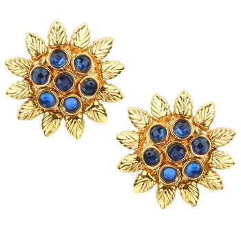 Ladies Studs Blue Copper Stud Earring for Women