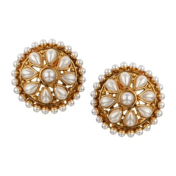 Ladies Studs White Copper Stud Earring for Women
