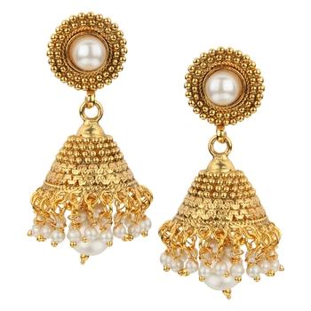 Jhumki Wedding White Copper Jhumka Earring for Women