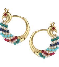 Chand Bali Hoop Multicolor Metal Alloy Hoop Earring for Women