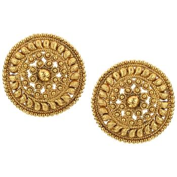Ladies Studs Golden Copper Stud Earring for Women