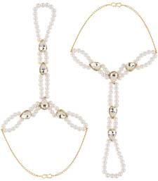 Buy Hand Hath Pan White Metal Alloy Adjustable Haath Panja for Women haath-phool-hath-panja online